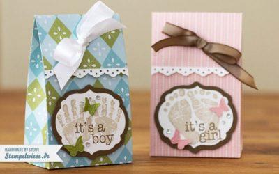 Verpackung für Babysöckchen oder ähnliches