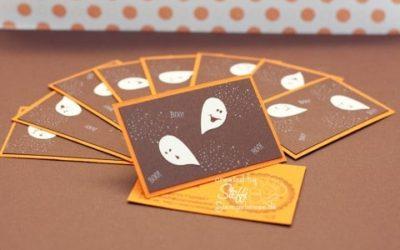 Visitenkarten selber gebastelt – Halloween