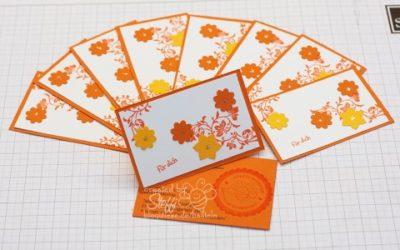 Visitenkarten selber gebastelt – Blüten
