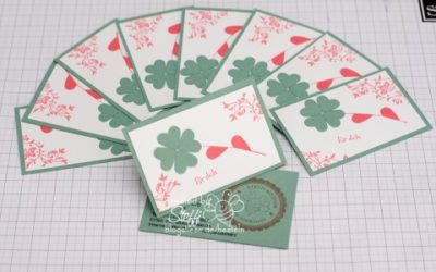 Visitenkarten selber gebastelt – Herzstanze