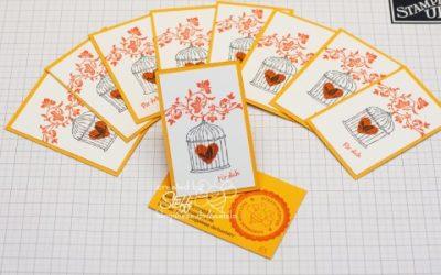 Visitenkarten selber gebastelt – glückliche Momente