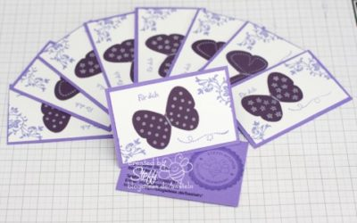 Visitenkarten – mit Schmetterlingen