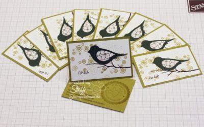 Visitenkarten selber gebastelt – Bird on a Branch