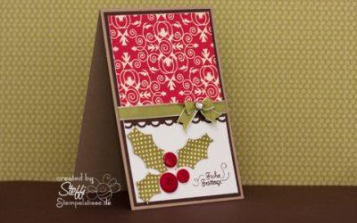 Weihnachtskarte – mit Knöpfen
