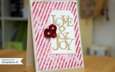 Weihnachtskarte – Love & Joy
