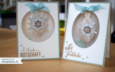 Weihnachtskarten – Projekt Flockentanz
