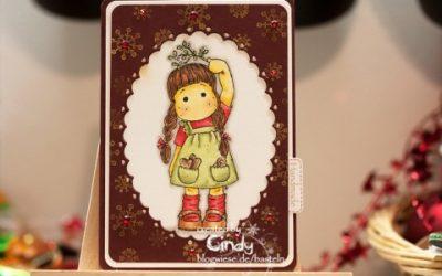 Weihnachtskarte – Tilda under Mistletoe