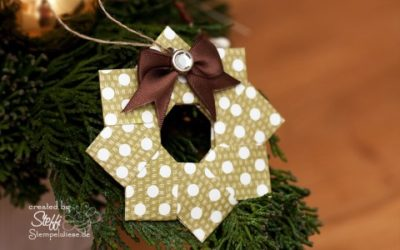 Video Tutorial – Origami Weihnachtskranz