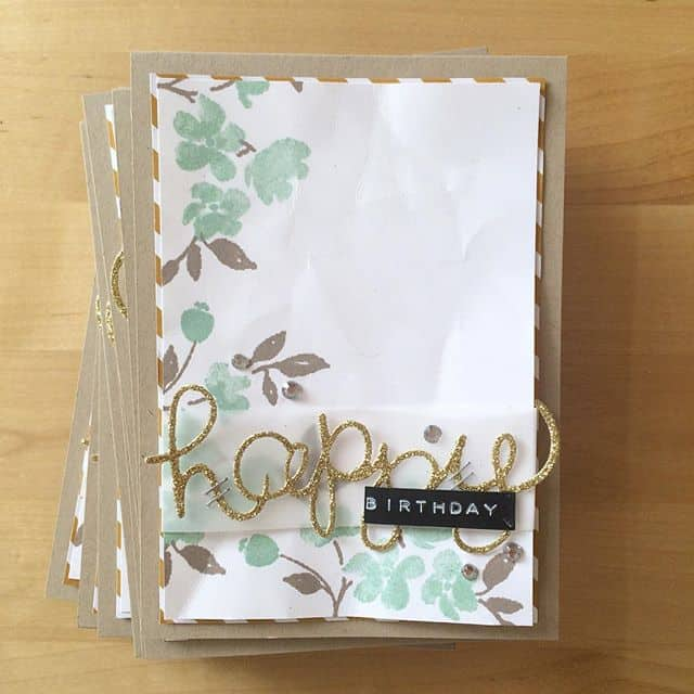 Andere Farbvariante #birthdaycard #stampinup #incolor #paintedpetals #stempelwiese