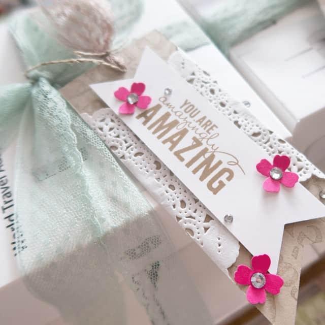 Kleine Geschenkanhänger #stampinup #amazing #geschenkanhänger #banner #stempelwiese