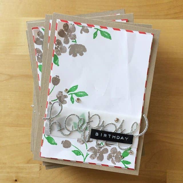Und die silberne Variante #stampinup #stempelwiese #paintedpetals #incolor #birthdaycard