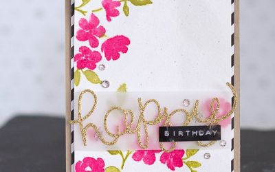 Geburtstagskarte mit Painted Petals