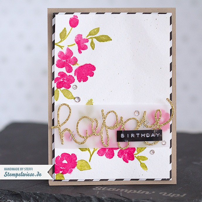 Stampin' Up! - Geburtstagskarte - Painted Petals ❤ Stempelwiese