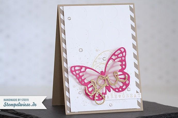 Stampin' Up! - Glückwunschkarte mit Schmetterling ❤ Stempelwiese