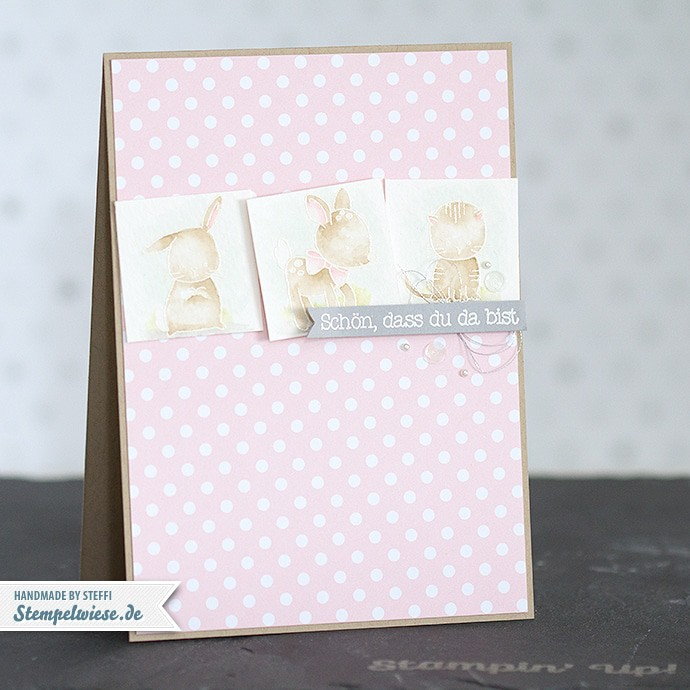 Stampin' Up! - Made with Love - Zum Nachwuchs - Baby Girl ❤ Stempelwiese