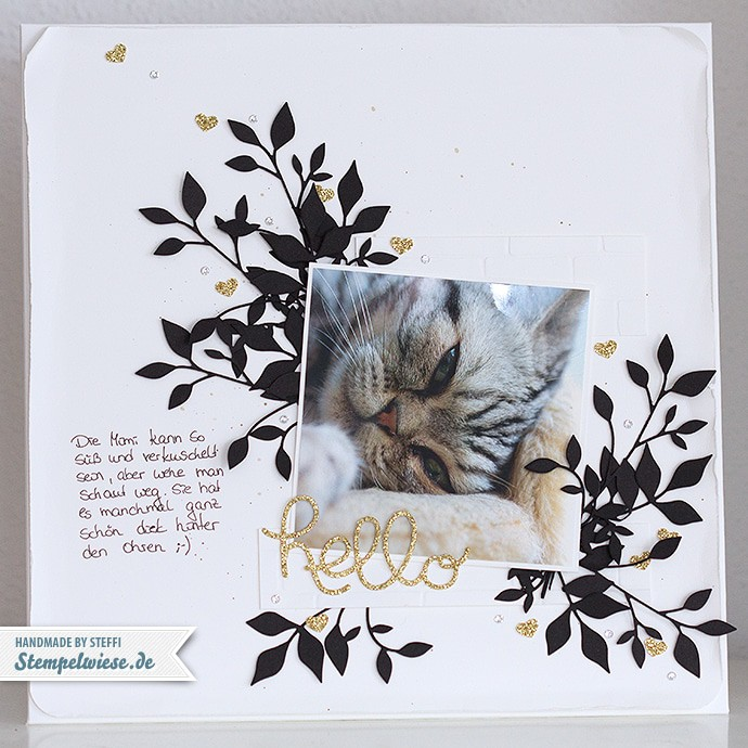 Stampin' Up! - Scrapbook - Layout - Mimi - Schwarz Weiß Gold ❤ Stempelwiese