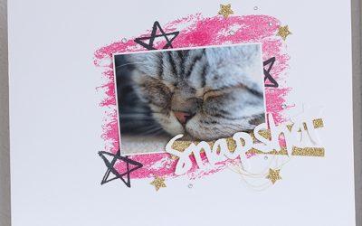 Scrapbook – Layout von Katze Mimi