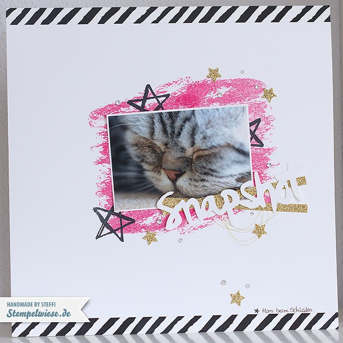 Stampin' Up! - Scrapbook - Watercolor Wash - Watercolor Words - Mimi - Snapshot ❤ Stempelwiese