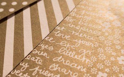 Gold & Silber als gemustertes Designerpapier