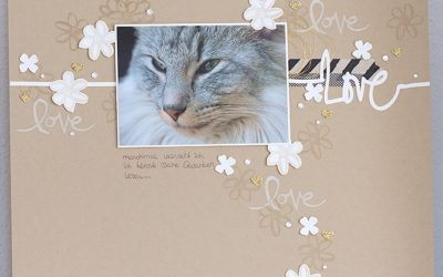 Scrapbook – Layout von Rico