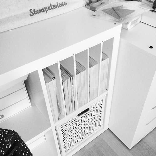 Endlich ein Platz für die Kataloge und auch gleich übersichtlicher #stampinup #ikea #kallax #newswedishdesign #stempelwiese