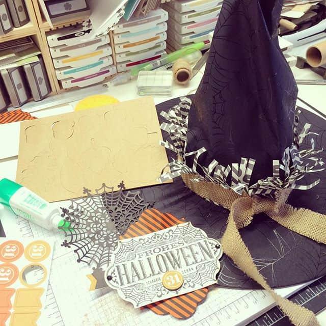Schon für Halloween vorbereiten #stampinup #stempeln #stempelwiese #witchingdecorprojectkit #schoeneschauernacht