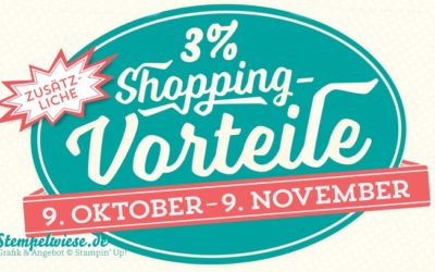 Angebot – 3% mehr Shoppingvorteile