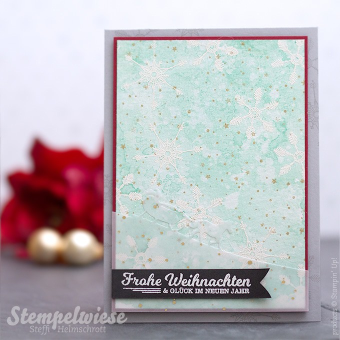 Stampin' Up! - Christmas Card - Weihnachtskare - Embossing - Watercolor -  Global Design Project ❤︎ Stempelwiese
