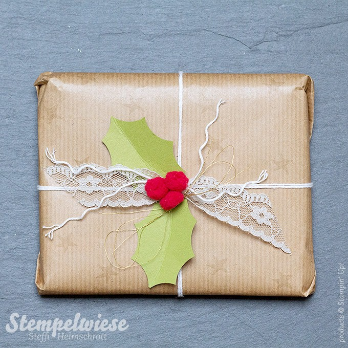 Weihnachtsgeschenk - christmas present - ilex - Global Design Project - Stampin' Up! - Gold ❤︎ Stempelwiese