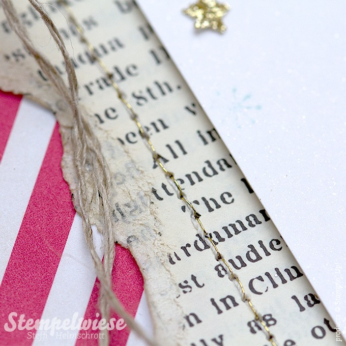Weihnachtskarte - Global Design Project - Stampin' Up! - Gold - Vintage - O Tannenbaum ❤︎ Stempelwiese