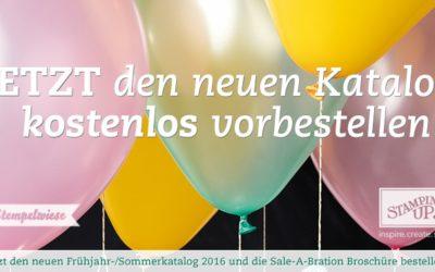 Frühjahr/Sommer und SAB Katalog vorbestellen