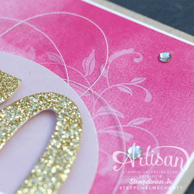 Geburtstagskarte - Global Design Project - Stampin' Up! -  Birthday Card - Gold ❤︎ Stempelwiese