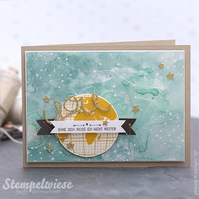 Stampin' Up! - Grusskarte - Liebe ohne Grenzen - Aquarell - Watercolor ❤︎ Stempelwiese