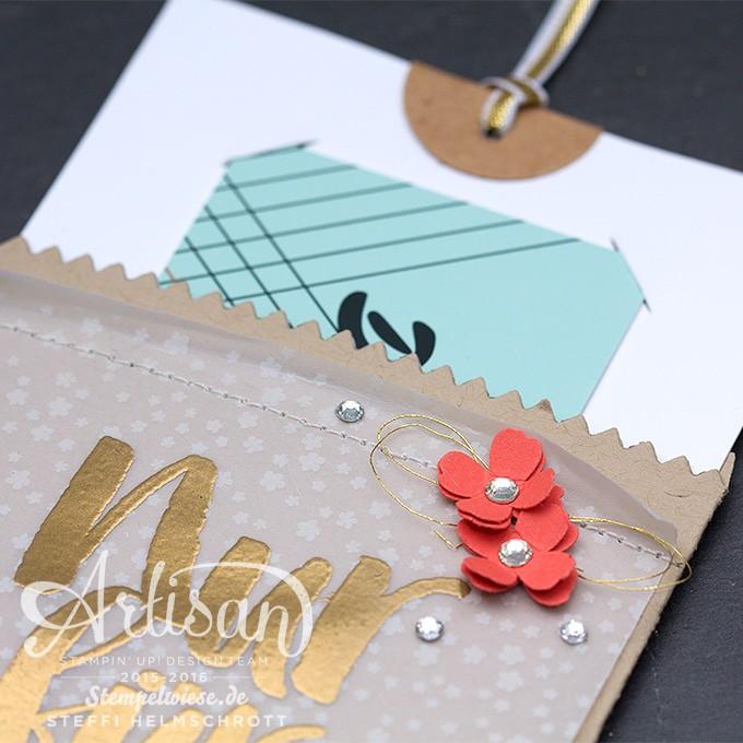 Stampin' Up! - Mini Leckereientüte - Sale-A-Bration - Blumen für dich - Pergament Botanischer Garten ❤︎ Stempelwiese
