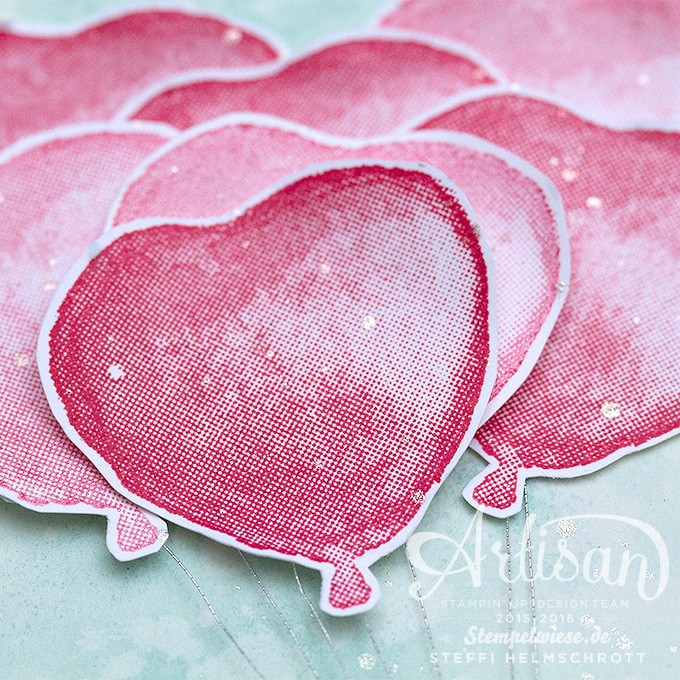 Stampin' Up! - Valentinskarte - Valentine - Balloon Builders - Global Design Project - Love ❤︎ Stempelwiese