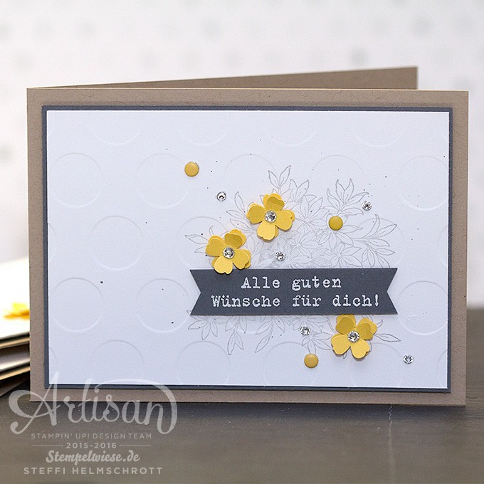 Geburtstagskarte - Stampin' Up! - Global Design Project - Awesomely Artistic - Anthrazitgrau - Schiefergrau - Osterglocke - Daffodil Delight - Basic Grey - Smoky Slate ❤︎ Stempelwiese