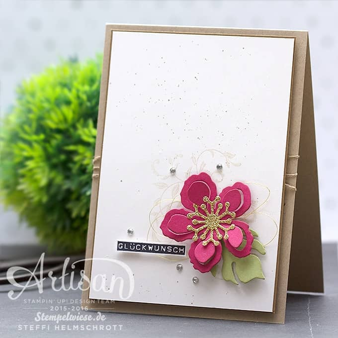 Geburtstagskarte - Stampin' Up! - Global Design Project - Botanical Blooms - Pflanzen-Potpourri ❤︎ Stempelwiese