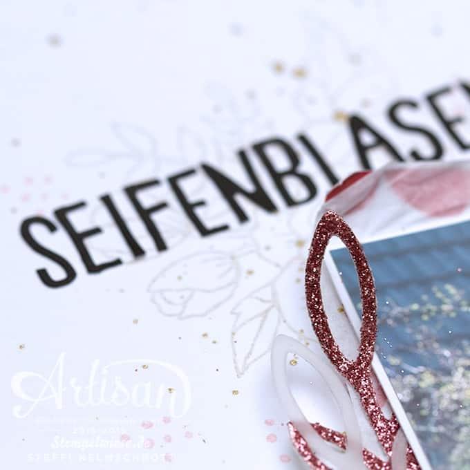 Scrapbook - Stampin' Up! - Artisan Design Team - A4 - Geburtstagsblumen - Seifenblasen ❤︎ Stempelwiese