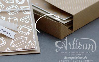 Vorlage mit Maße für Kartenset Box – cm & inch