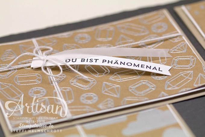 Kartenset, Artisan Stampin' Up!, Blog Hop, Designerpapier Sommerglanz, Thinlits Rosengarten, Stempelset Sonnengruß ❤︎ Stempelwiese