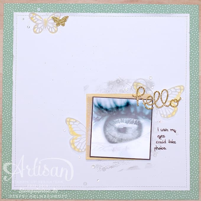 Scrapbook - Artisan Design Team - Eye - Schmetterling - Butterflies ❤︎ Stempelwiese