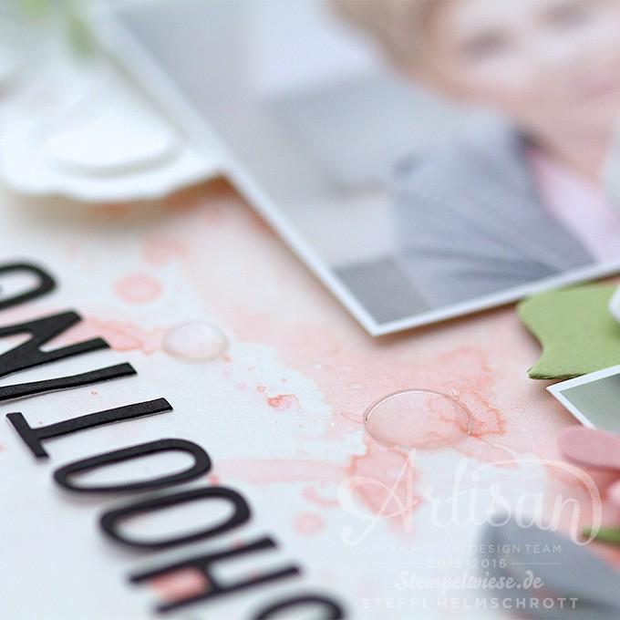 Scrapbook, Artisan Designteam, Layout, Fotoshooting, Pflanzen-Potpourri, Stempelwiese