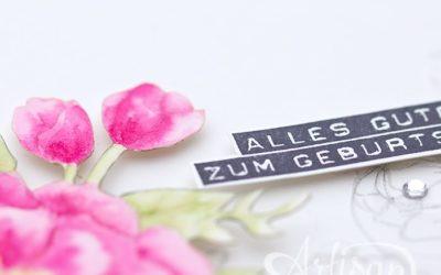 GDP 036 – Geburtstagskarte mit Geburtstagsblumen