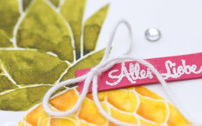 Artisan Blog Hop – Video – Aquarell Ananas