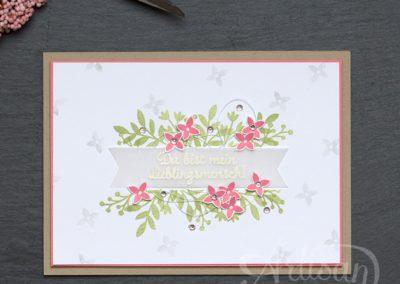 Für Lieblingsmenschen - Artisan Designteam - Stampin' Up! - Flamingorot - Stempelwiese