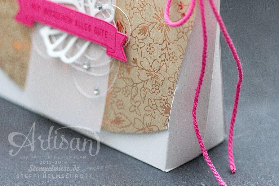 Stampin' Up! - Artisan Designteam - Verpackung - Lindt Lindor Erdbeer Sahne Kugeln - Stempelwiese