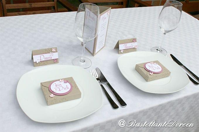 Tischset zur Hochzeit