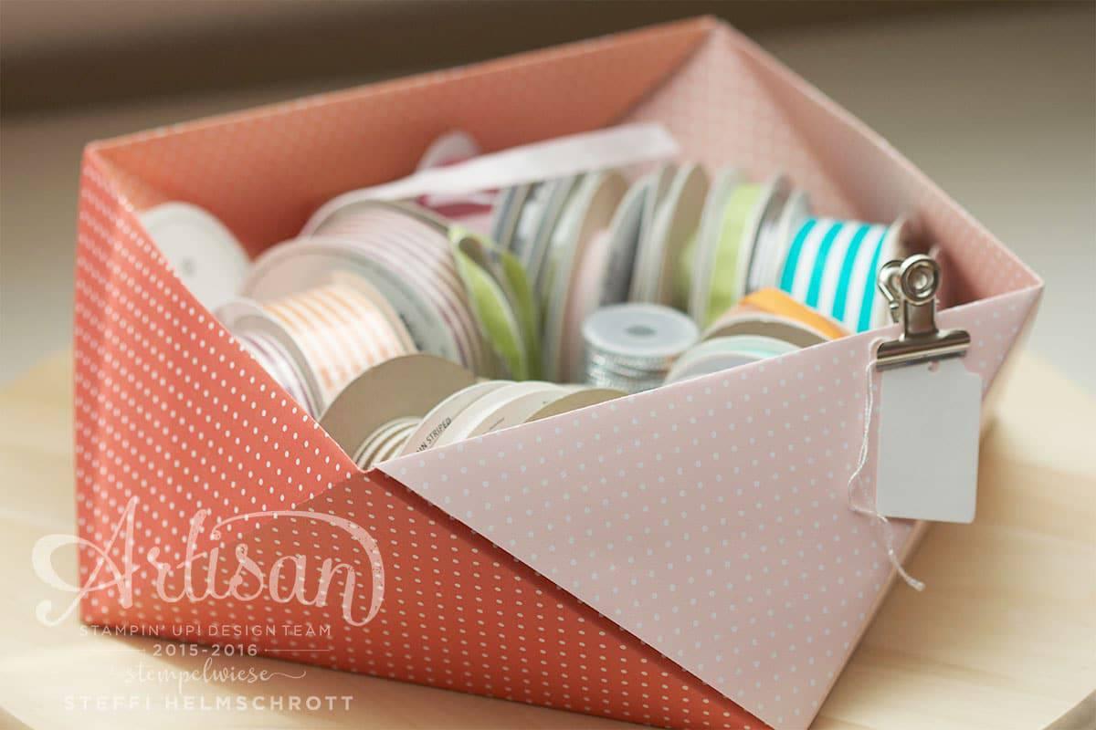 Origami Schale falten für Bänder