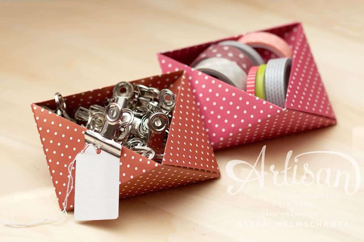 Origami Schale falten für Kleinteile