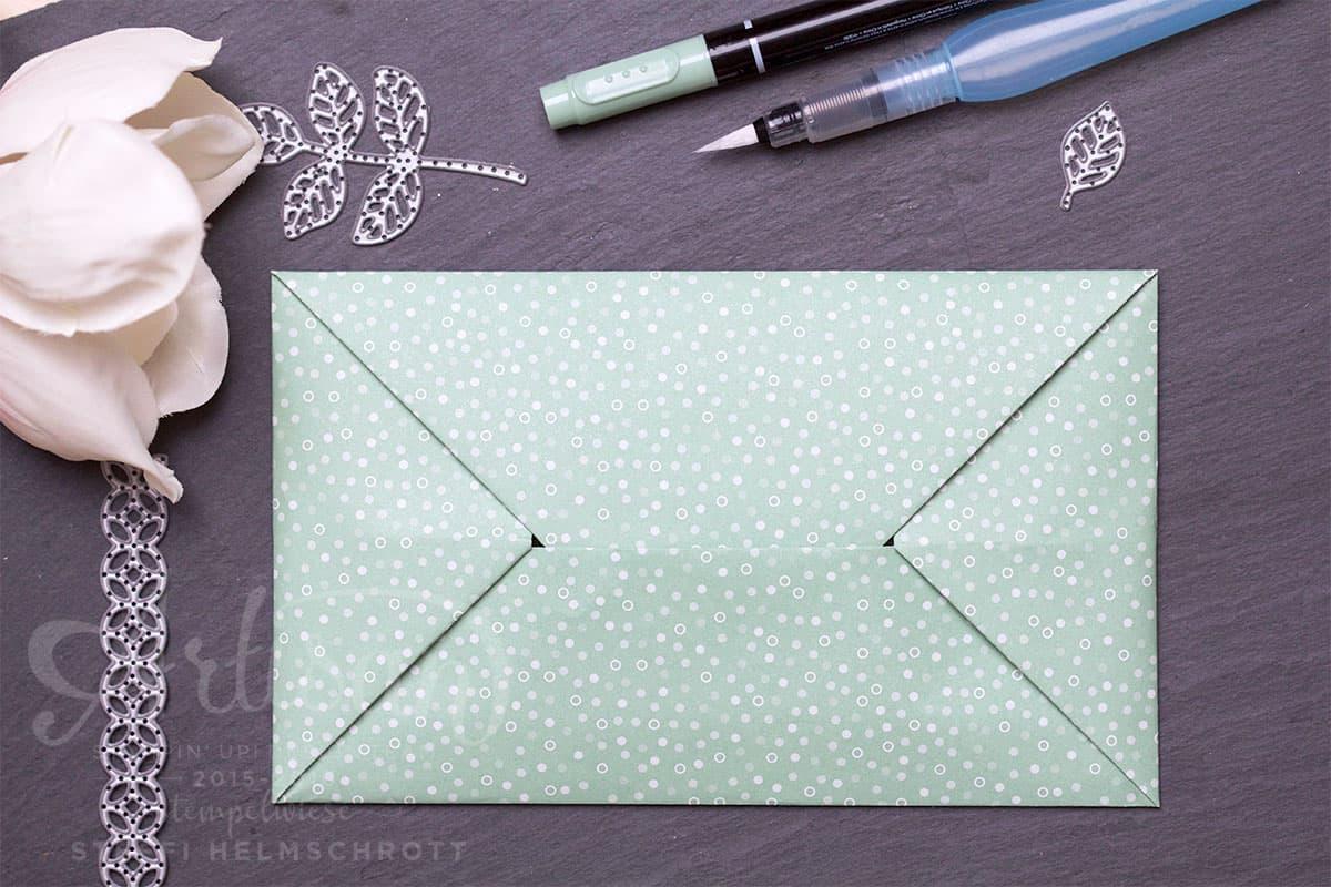 Origami Umschlag Lasche einstecken